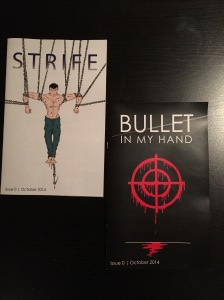 Zero issues for Strife and Bullet in My Hand, the first ventures from Lytwyn Studios.